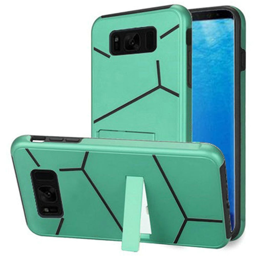 Insten Fitted Soft Shell Case for Samsung Galaxy S8 - Black;Teal