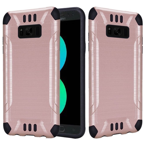 Insten Hard Hybrid Brushed TPU Case For Samsung Galaxy S8 Plus, Rose Gold/Black