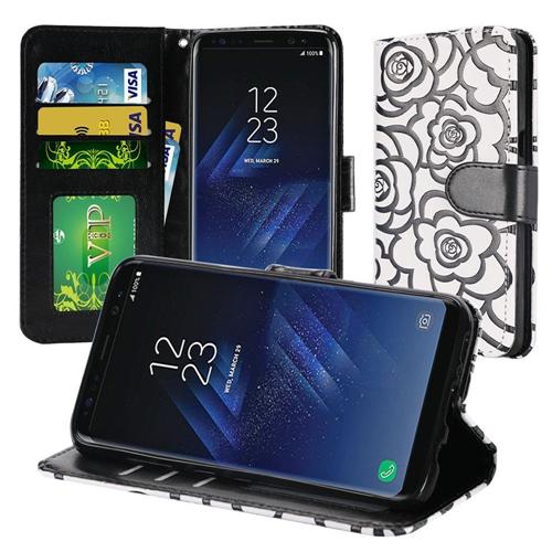 Insten Wallet Case for Samsung Galaxy S8 - White; Black; Rose