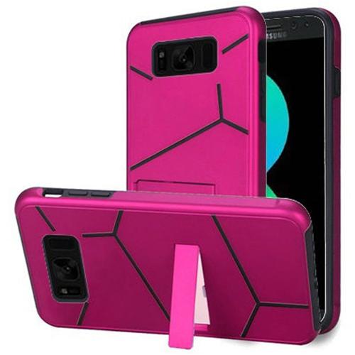 Insten Hard Hybrid Plastic TPU Case w/stand For Samsung Galaxy S8 Plus, Hot Pink/Black