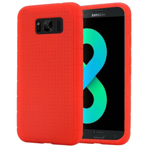 Insten Rugged Skin Rubber Cover Case For Samsung Galaxy S8 Plus, Red