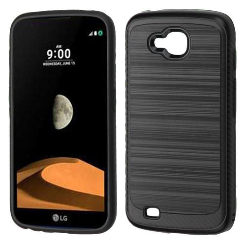 Insten Hard Dual Layer Brushed TPU Case For LG V9/X Venture, Black