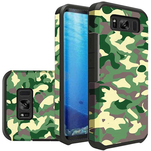 Insten Slim Camouflage Hard Dual Layer Plastic TPU Cover Case For Samsung Galaxy S8, Green