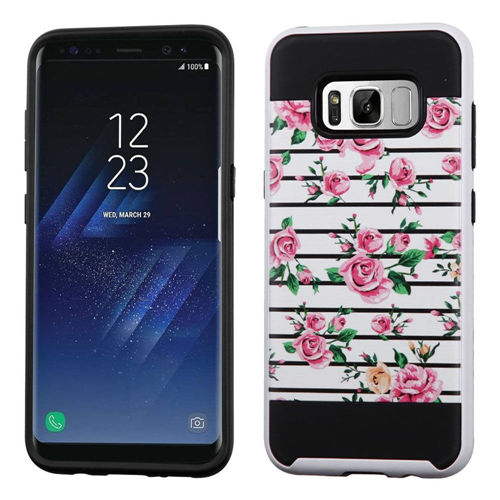 Insten Fitted Soft Shell Case for Samsung Galaxy S8 Plus - White;Pink