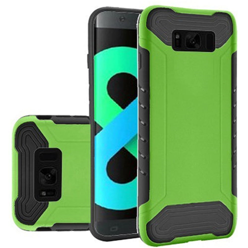 Insten Fitted Soft Shell Case for Samsung Galaxy S8 Plus - Neon Green;Black
