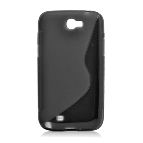 Insten S Shape Gel Case For Samsung Galaxy Note II, Black