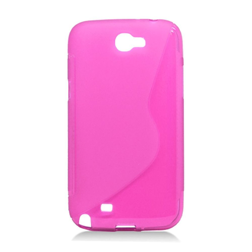 Insten S Shape TPU Cover Case For Samsung Galaxy Note II, Pink