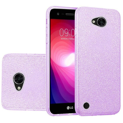 Insten Hard Glitter TPU Case For LG Fiesta LTE/K10 Power/X Charge/X Power 2, Purple