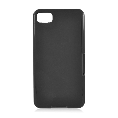 Insten Rubber Cover Case For BlackBerry Z10, Black