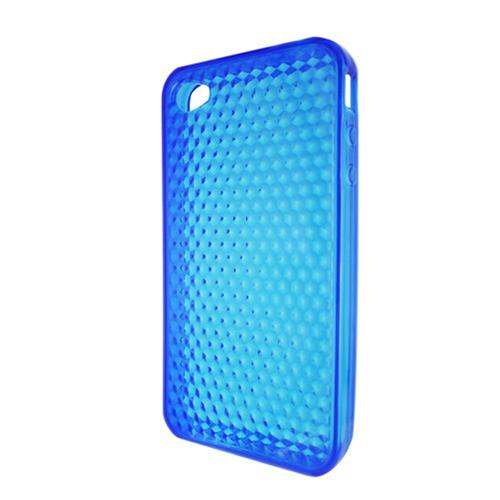 Insten Gel Clear Case For Apple iPhone 4, Blue