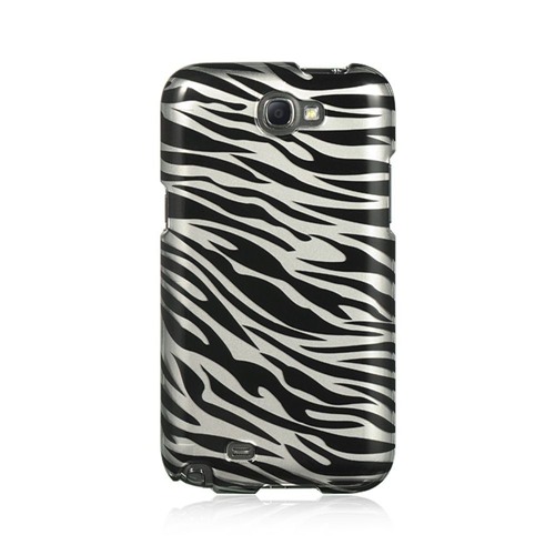 Insten Zebra Hard Plastic Cover Case For Samsung Galaxy Note II, Black/Silver
