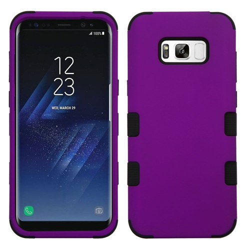 Insten Tuff Hard Dual Layer TPU Cover Case For Samsung Galaxy S8, Purple/Black