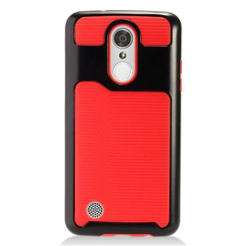 Insten Fitted Soft Shell Case for LG Aristo;Phoenix 3;Fortune;Lv3;K8;K4 - Black;Red