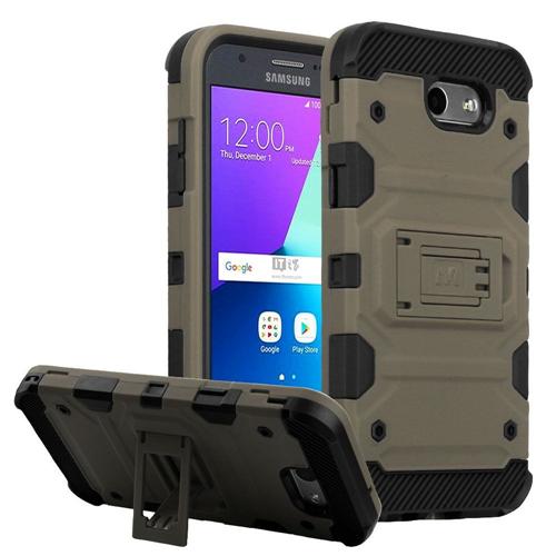 Insten Tank Hard Case For Samsung Galaxy Amp Prime 2/Express Prime 2/J3 (2017)/J3 Emerge, Dark Gray