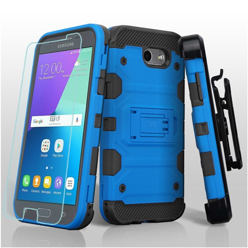Insten Tank Hard Case For Samsung Galaxy Amp Prime 2/Express Prime 2/J3 (2017)/J3 Emerge, Blue