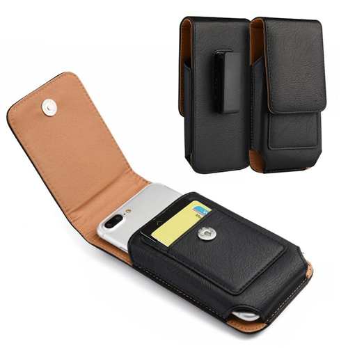 Insten Flip Leather Fabric Cover Case w/card slot/Belt Clip For Samsung Galaxy Note, Black