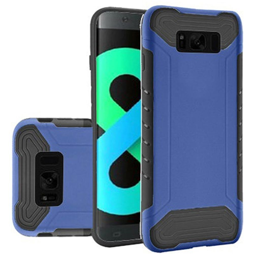 Insten Slim Armor Hard Hybrid Plastic TPU Cover Case For Samsung Galaxy S8 Plus, Blue/Black