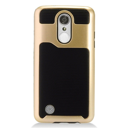 Insten Slim Hard TPU Cover Case For LG Aristo/Fortune/K4 (2017)/K8 (2017)/LV3/Phoenix 3, Gold/Black