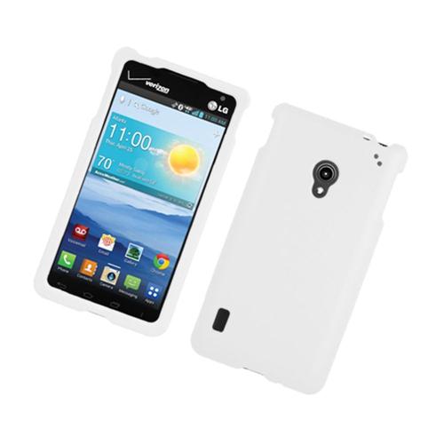 Insten Hard Rubberized Cover Case For LG Lucid 2 VS870, White