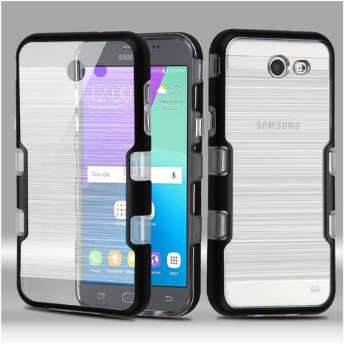Insten Tuff Hard Case For Samsung Galaxy Amp Prime 2/Express Prime 2/J3 (2017)/J3 Emerge, Black