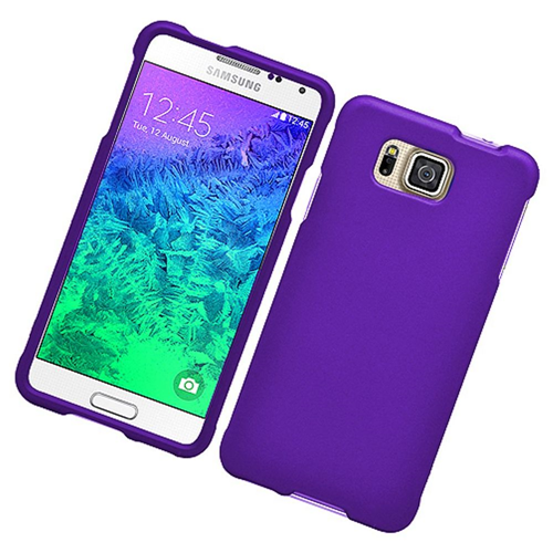 Insten Hard Cover Case For Samsung Galaxy Alpha, Purple