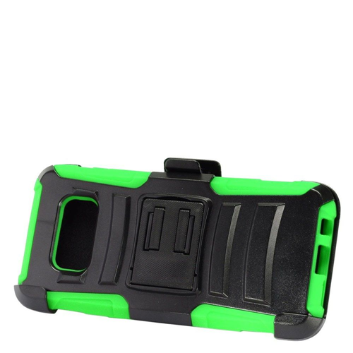 Insten Armor Hard Hybrid Plastic Silicone Case w/stand For Samsung Galaxy S8 Plus, Black/Green