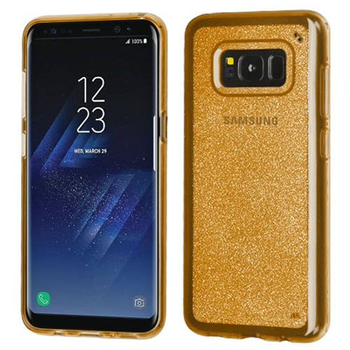Insten Fitted Hard Shell Case for Samsung Galaxy S8 Plus - Gold;Clear