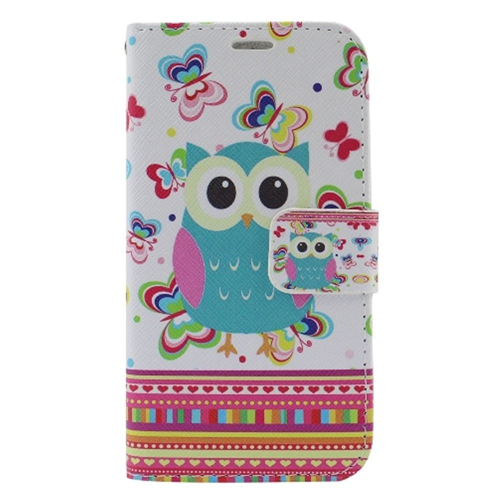 Insten Owl Flip Leather Fabric Case w/stand/card slot For Samsung Galaxy S6 Edge Plus, Colorful