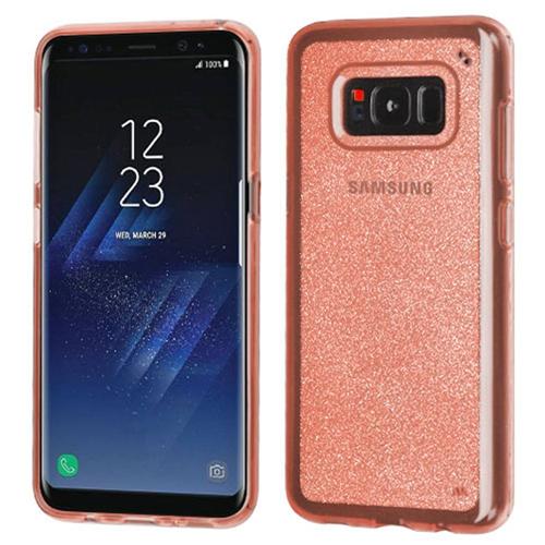 Insten Glitter TPU Clear Case For Samsung Galaxy S8 Plus, Rose Gold