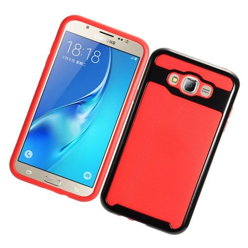 Insten Slim Hard TPU Case For Samsung Galaxy J7 (2015), Red/Black