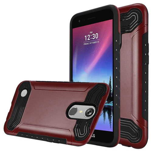 Insten Hard Dual Layer TPU Cover Case For LG Grace 4G/Harmony/K20 Plus/K20 V, Red/Black