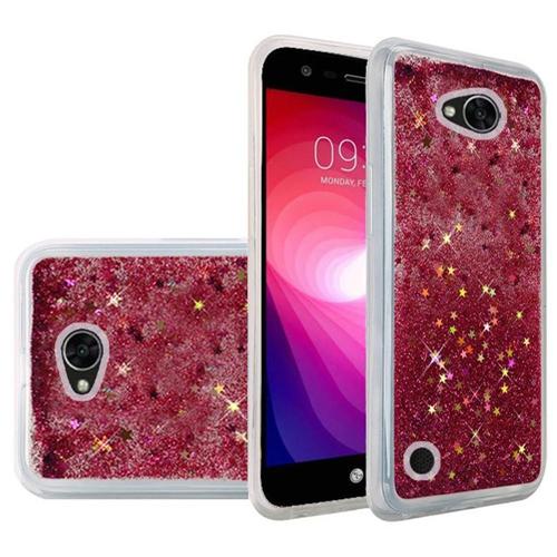 Insten Quicksand Hard Glitter Case For LG Fiesta LTE/K10 Power/X Charge/X Power 2, Hot Pink