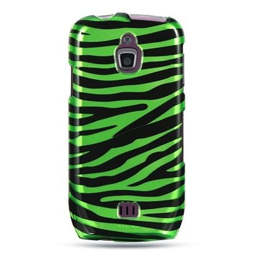Insten Zebra Hard Plastic Case For Samsung Exhibit 4G T759, Black/Green