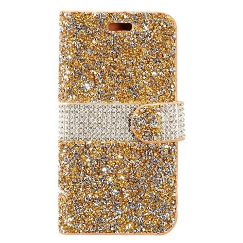 Insten Wallet Case for Samsung Galaxy S8 - Silver;Gold