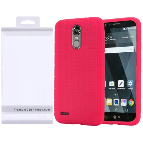 Insten Gel Rubber Case For LG Stylo 3, Hot Pink