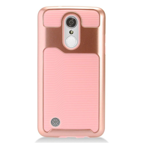 Insten Fitted Soft Shell Case for LG Aristo;Phoenix 3;Fortune;Lv3;K8;K4 - Pink;Rose Gold