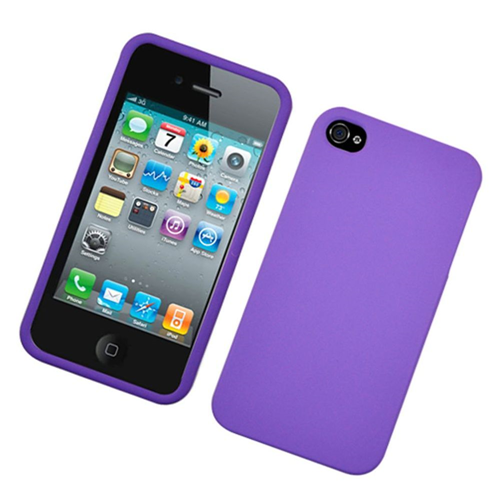 Insten Hard Rubberized Cover Case For Apple iPhone 4/4S, Purple