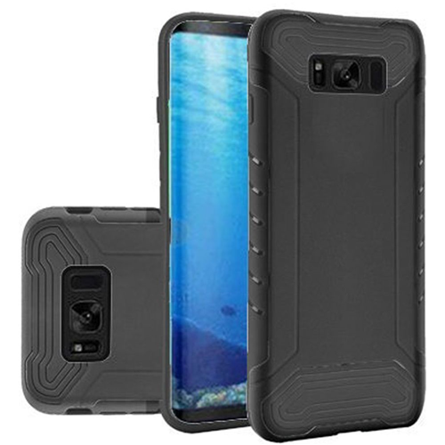 Insten Slim Armor Hard Dual Layer Plastic TPU Cover Case For Samsung Galaxy S8, Black