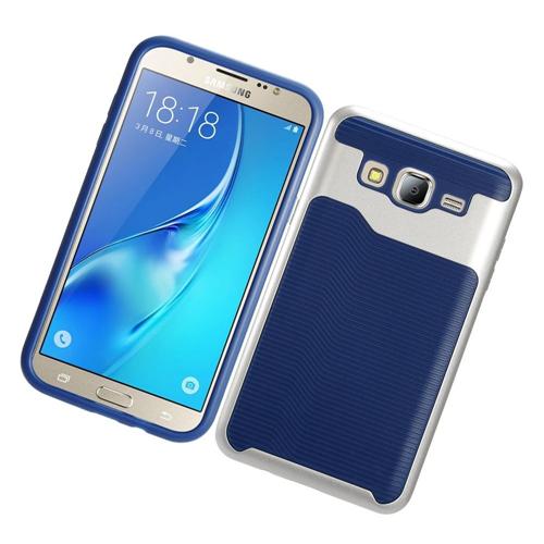 Insten Slim Hard TPU Case For Samsung Galaxy On5, Blue/Silver