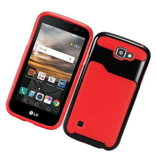 Insten Slim Hard TPU Case For LG K3 (2016), Red/Black