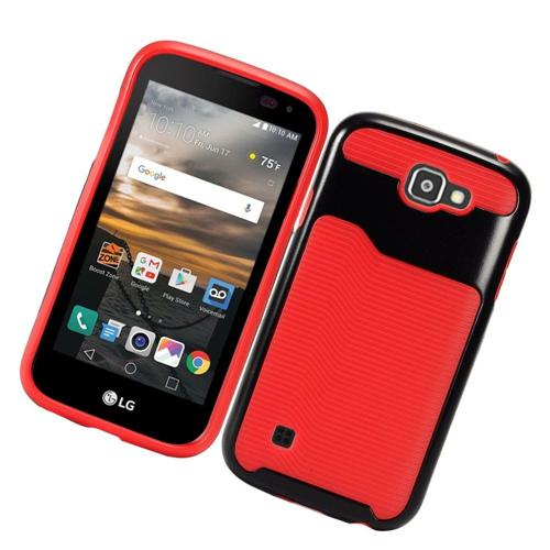 Insten Slim Hard TPU Case For LG K3 (2016), Red/Black