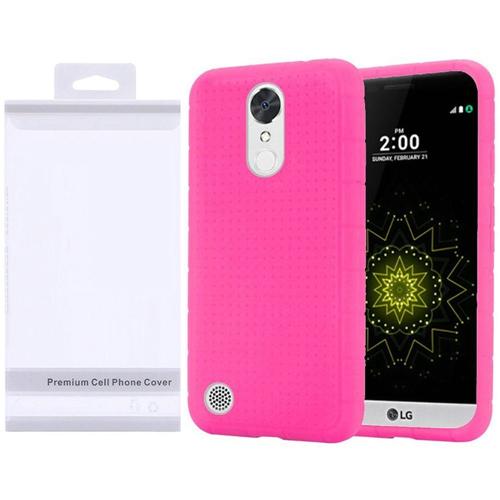 Insten Skin Rubber Case For LG Grace 4G/Harmony/K20 Plus/K20 V, Hot Pink