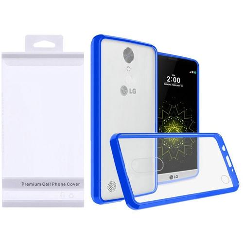 Insten Hard Plastic TPU Case For LG Grace 4G/Harmony/K20 Plus/K20 V, Clear/Blue