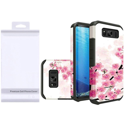 Insten Cherry Blossom Hard Hybrid Rubberized Case For Samsung Galaxy S8, Multi-Color