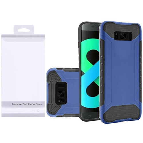 Insten Slim Armor Hard Hybrid Plastic TPU Case For Samsung Galaxy S8 Plus, Blue/Black