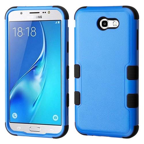Insten Hard Hybrid Plastic TPU Case For Samsung Galaxy J7 (2017)/J7 Perx/J7 Sky Pro/J7 V, Blue/Black