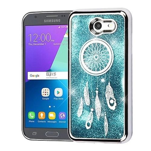 Insten Quicksand Dreamcatcher Case For Samsung Galaxy Amp Prime 2/Express Prime 2/J3 (2017), Blue
