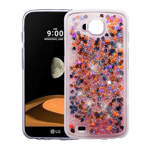 Insten Quicksand Hearts Hard Plastic TPU Case For LG V9/X Venture, Multi-Color
