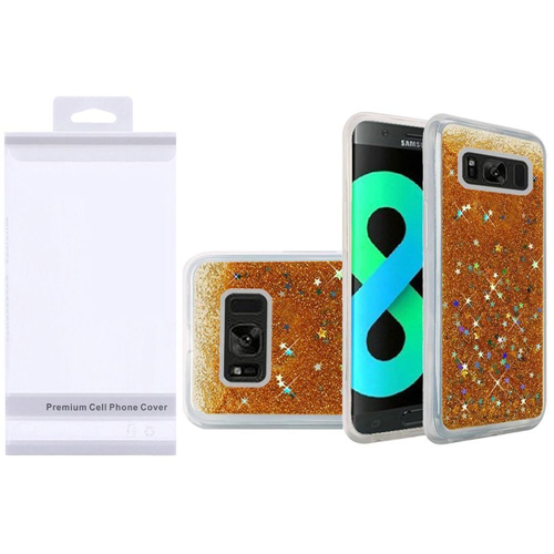 Insten Quicksand Hard Glitter TPU Cover Case For Samsung Galaxy S8 Plus, Gold