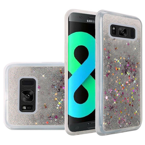 Insten Quicksand Hard Glitter Cover Case For Samsung Galaxy S8 Plus, Silver